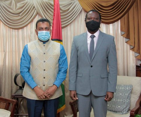Minister Todd and Dr. Ramsaroop discuss enhanced collaboration between the Ministry and Go-Invest