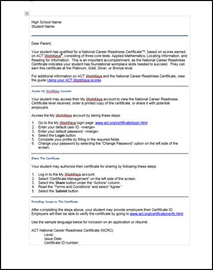 Workkeys Certificate Levels