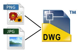 DWG file format can be saved as .JPG or .PNG