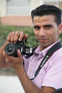 Shadi Dar Khalil, 27 years old, decided to study journalism & political science because he says that Palestinians are in need for a strong and powerful journalism in order to deliver their messages to the whole world. photo courtesy of Shadi Dar Khalil. 2011