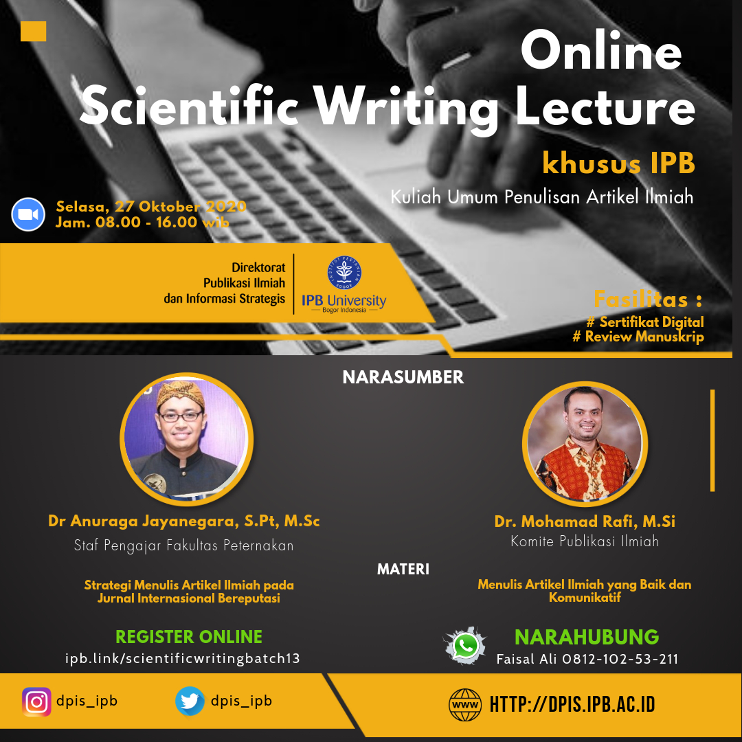 ONLINE SCIENTIFIC WRITING LECTURE