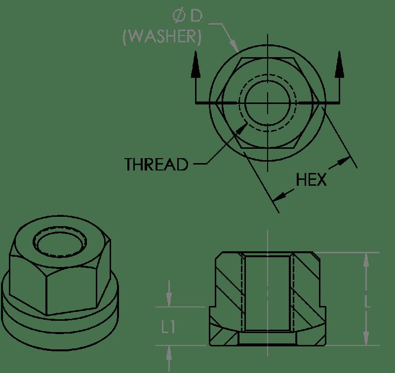 Hexagonal Nut Engineering Drawing