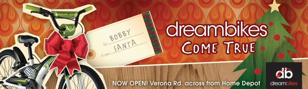 DreamBikes transit ad campaign
