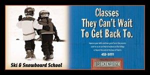 An ad campaign for Breckenridge Ski Resort's ski school