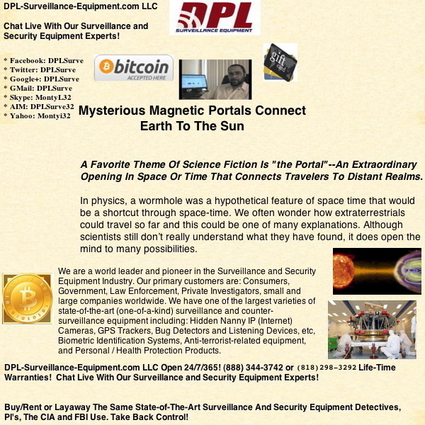Mysterious Magnetic Portals Connect Earth To The Sun. Could There Be Other Portals Between Planets And Stars, Etc? (#GotBitcoin?)