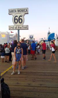 August 2015: In the Minerva jacket, Sta. Monica Pier, California, USA
