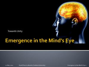 Leibovitz (2011) Emergence in the Mind's Eye