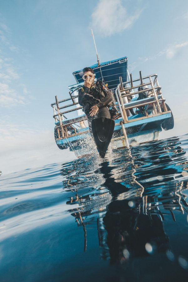 jump to dive in koh tao