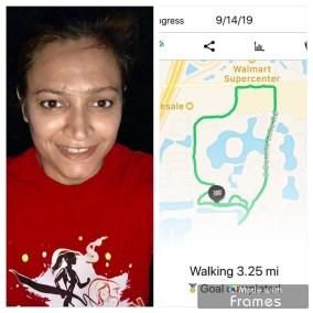 Gina Pracash did 3.25 miles!