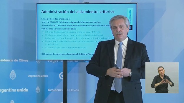 Coronavirus en Argentina: Alberto Fernández anunció la prórroga de ...
