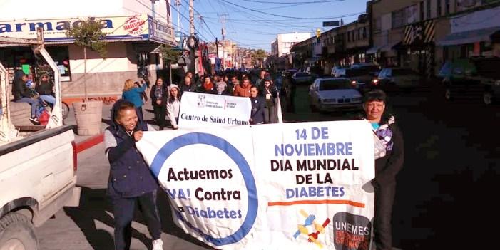 Realizan marcha en Día Mundial contra la diabetes