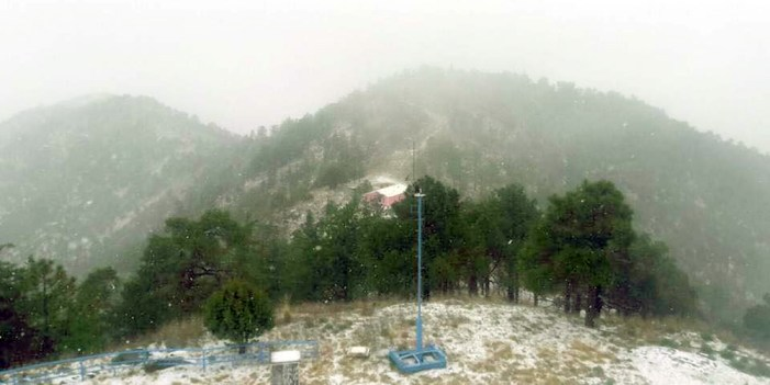 Reportan nevadas en algunas regiones de Sonora