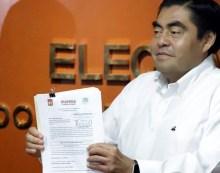 Ratifica INE candidatura de #MiguelBarbosa a la gubernatura de Puebla