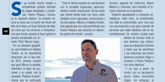 """Reconocen a alcalde de Peñasco por """"Acciones de buen gobierno"""" en revista La Nación"""