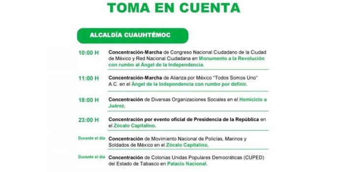 Marchan agrupaciones en Ciudad de México