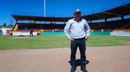 Inspeccionan trabajos en estadio Alberto Hoeffer