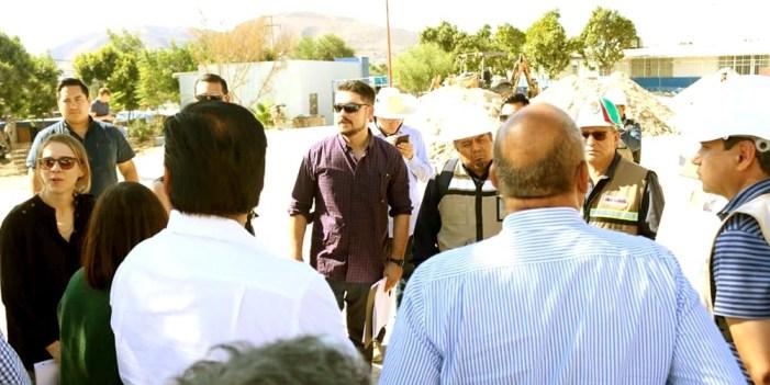 Supervisan funcionarios de Sedatu avance de obras