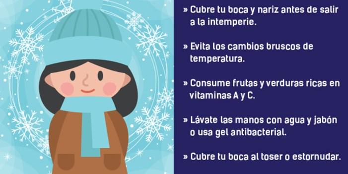 Reitera Salud Sonora el llamado a cuidarse del frío