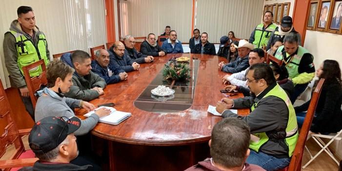 Intenso operativo de protección civil ante lluvias y bajas temperaturas