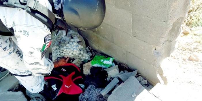 Guardia Nacional localiza drogas en Las Torres
