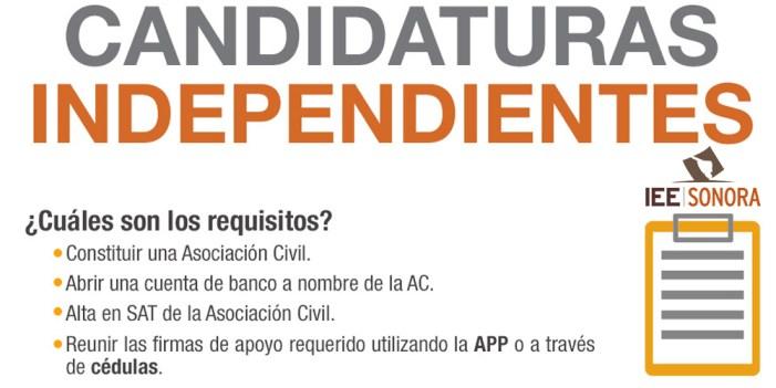 Desprecian a independientes en Sonora
