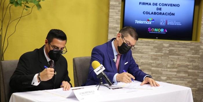 Firman convenio de colaboración Cofetur y Telemax Sonora
