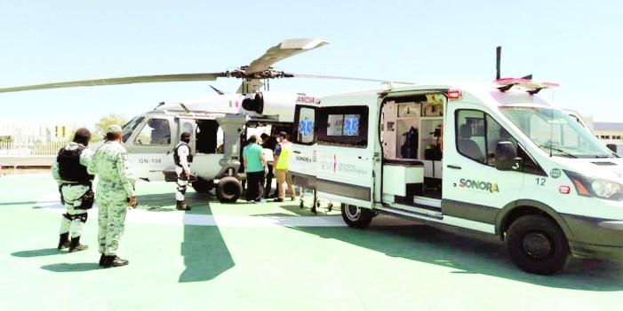 Coordina Salud Sonora traslado aéreo para lesionados en Huásabas