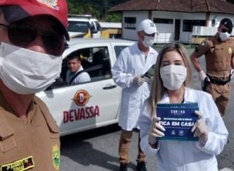 PM e Polícia Rodoviária Estadual se unem contra o Coronavírus