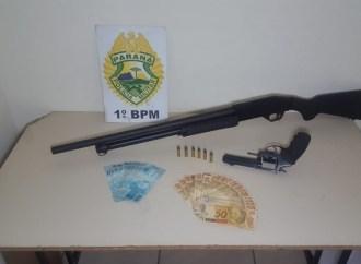 Homem é preso com armas ilegais e dinheiro em PG