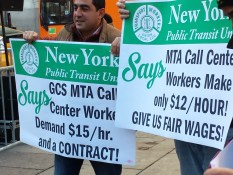MTA Call Center Workers Make only $12/Hour