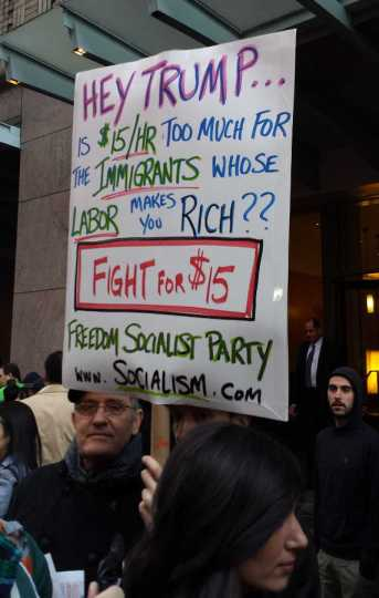 Hey Trump is $15/hr too much for the immigrants whose labor makes you rich?