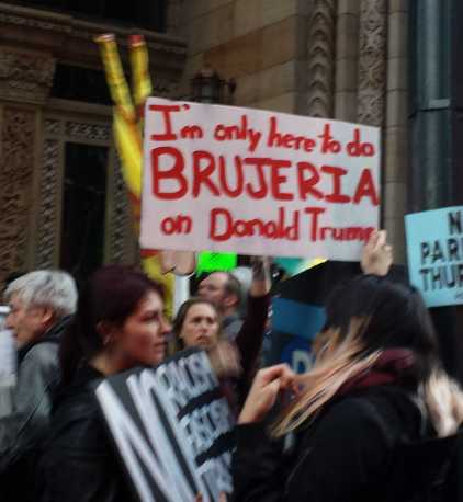 I'm only here to do brujeria on Donald Trump