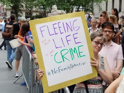 Fleeing for your life is not a crime. #NoFamilyDetention