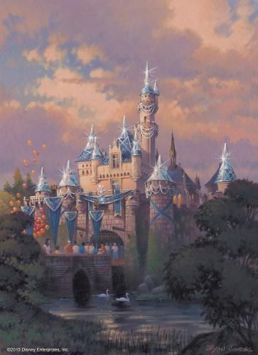 Sleeping Beauty Castle Decor/As to Disney photos, logos, properties: (c)Disney