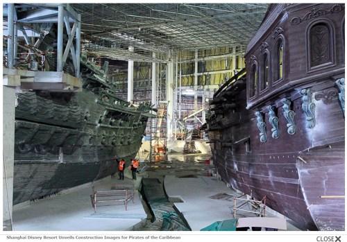 Shanghai Disney Resort Unveils Construction Images for Pirates of the Caribbean (c)disney