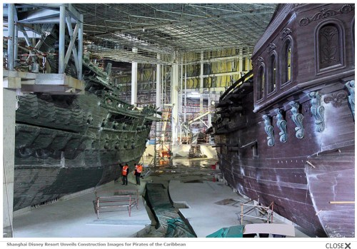 Shanghai Disney Resort Unveils Construction Images for Pirates of the Caribbean (c)disney