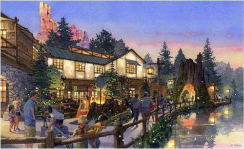 新エリア「キャンプ・ウッドチャック」の外観イメージ (c)Disney