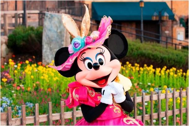 """ミニーマウスの""""イースターバニーボンネット"""" (c)Disney"""