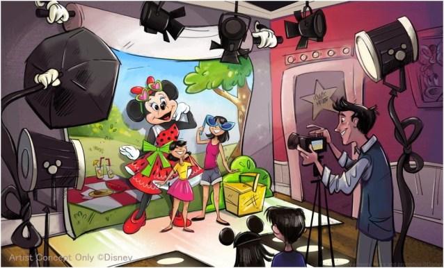 新キャラクターグリーティング施設の内観  (c)Disney