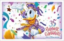 35 周年限定デザインのチケット(7 種類) (c)Disney