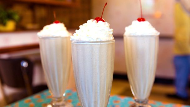 50's Prime Time Cafe's Peanut Butter and Jelly Milk Shake has been offered since the opening day of Disney's Hollywood Studios. The 30th anniversary of Disney's Hollywood Studios celebrates new attractions, entertainment, and merchandise, plus an incredible menu of limited-time offerings as well as legacy menu items that have been offered since the park opened.