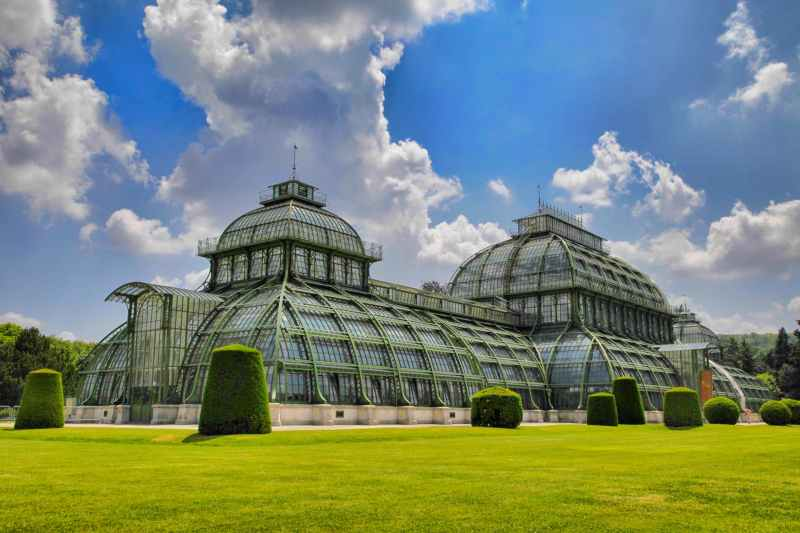 sky clouds architecture greenhouse