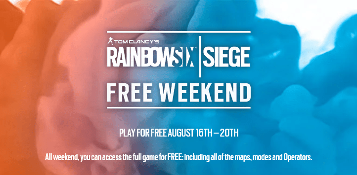 "『Rainbow Six Siege』無料プレイが可能となる""フリーウィークエンド""が全機種(PC/PS4/Xbox One)向けに実施。8月16日(木)より"