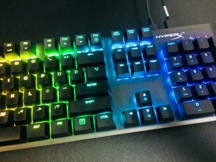 ゲーミングキーボード「HyperX Alloy FPS RGB」レビュー。キー反応が非常に早いKailh Speed Silverは、対人ゲーマーなら試すべき逸品