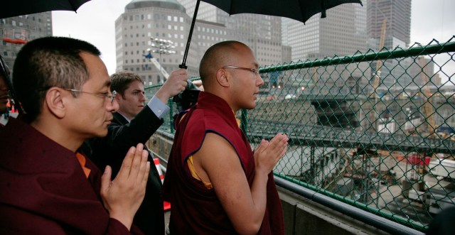 Rinpoche with HH Karmapa during his visit to Ground Zero300_155
