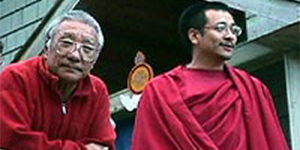 Rinpoche with his Guru Khenpo Rinpoche300