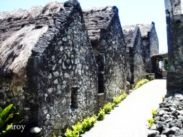 Houses made from limestone and coral