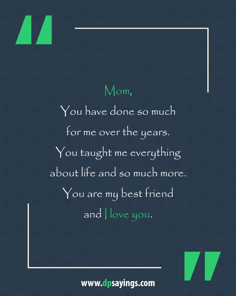 Mom I Love You Quotes : quotes, Heartwarming, Quotes, Sayings