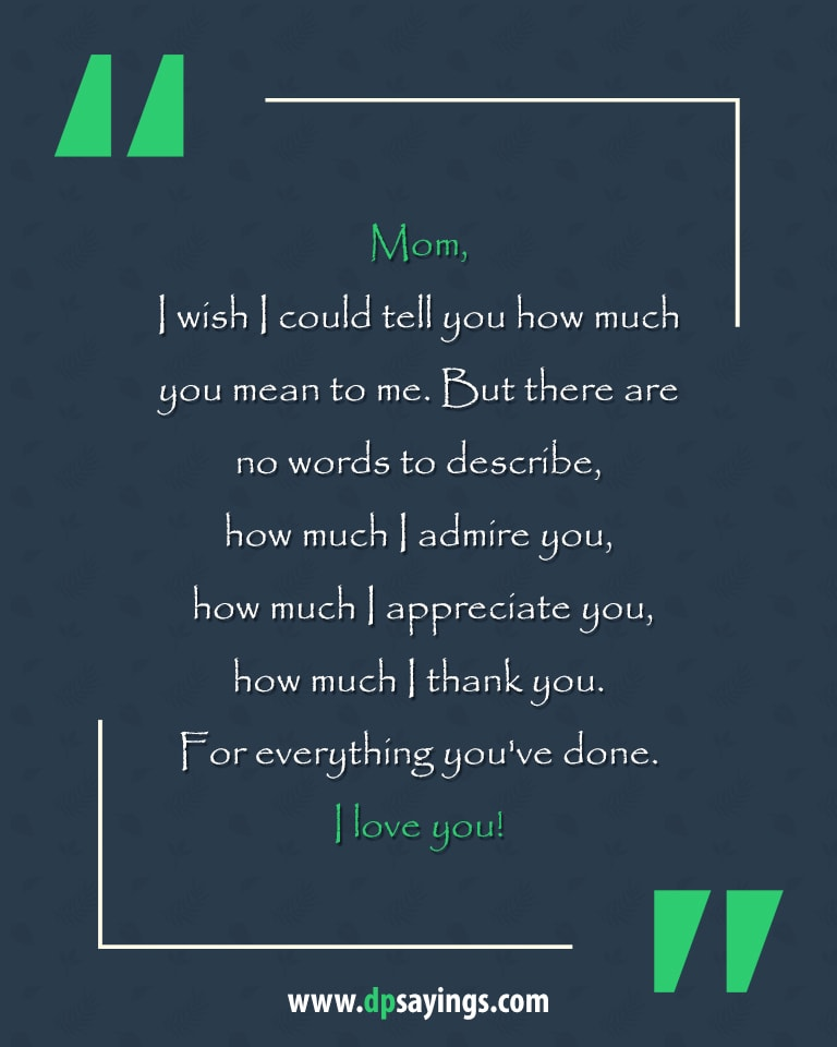Thank You Mother Quotes : thank, mother, quotes, Heartwarming, Quotes, Sayings