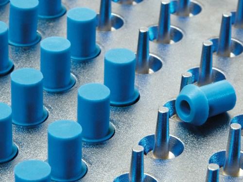 Micro mouldings - BHC Aerovox electrolytic capacitors with DP Seals safety vent mouldings
